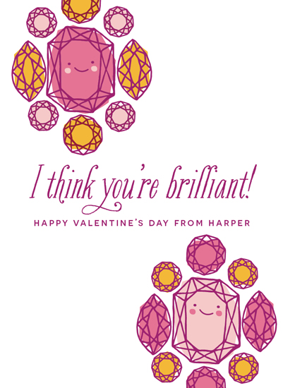 valentine's day - You're Brilliant! by Oscar & Emma
