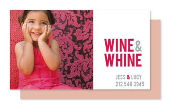 Wine & Whine Playdate Business Cards