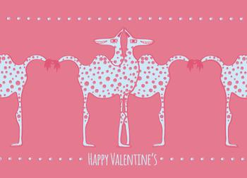 dotted camels Valentine's Day