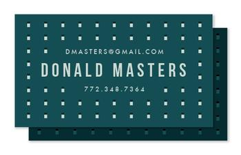 Patterned Professional Business Cards