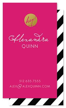 Gold & Glamorous Business Cards