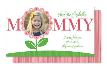 Flower Mommy Calling Card Business Cards