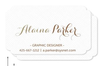 Simply Textured Business Cards