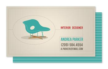 Modern Chair Business Cards