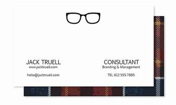 Professional in Plaid Business Cards