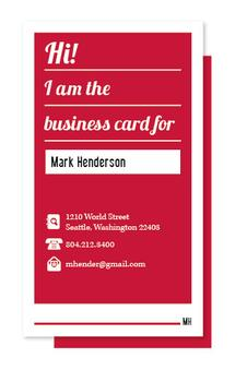 I am the Business Card Business Cards