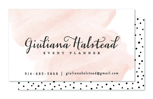 business cards - Pink Wash