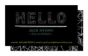 the architect Business Cards