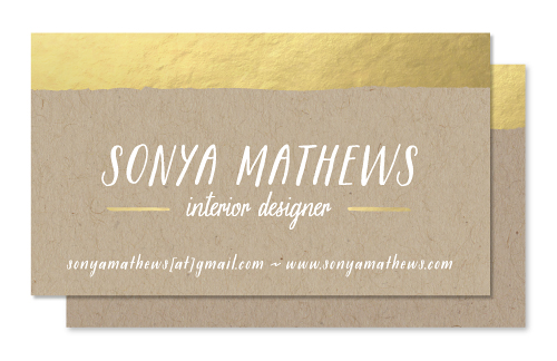 business cards - Gold Dip
