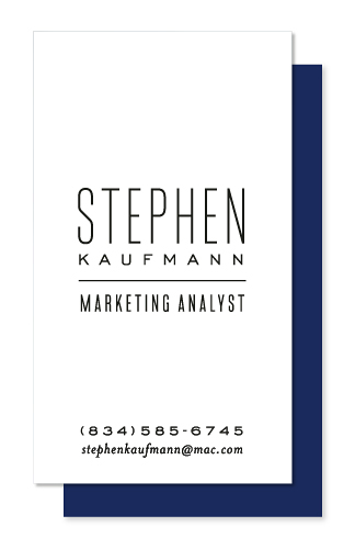 business cards - Skinny Type