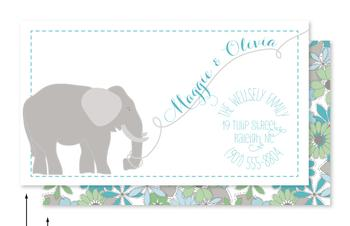Elephant Calling Card Business Cards