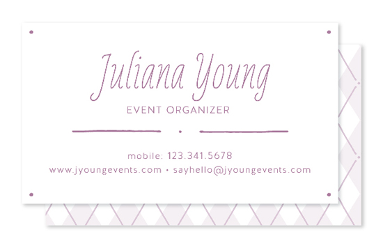 business cards - Polkargyle by katrina gem