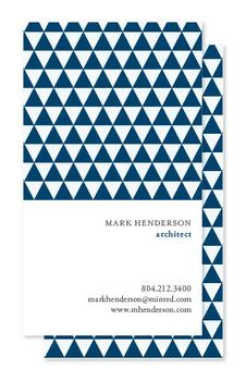 Pattern for Architect Business Cards