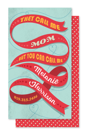 business cards - With the ribbon by Jazmin B. Marquez