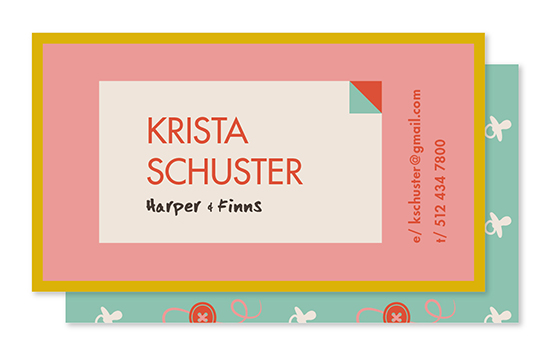 business cards - Buttons, Babies, Binkies by Melanie Pavao