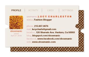 Shoemanic Business Cards