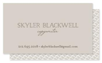 Grey on Grey Business Cards