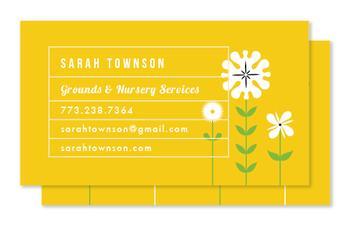 Modern Floral Business Cards