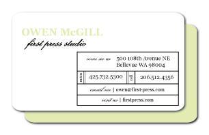 Modern Printer Box Business Cards