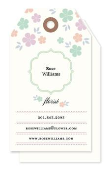 The florist Business Cards