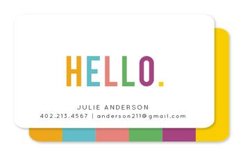 Fun Hello Business Cards