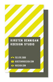 Bumble Stripe & Square Business Cards