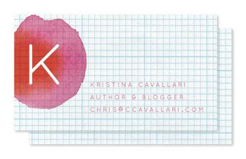 Watercolor Graph Business Cards