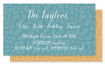 All In The Family Business Cards