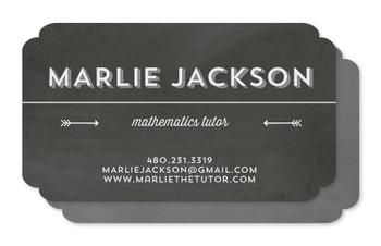 Retro Chalkboard Business Cards