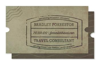 Globe Trotter Business Cards