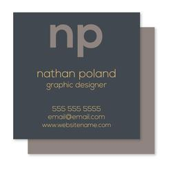 Front and Center Business Cards