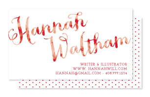 business cards - personal signature by Kimberly Chow