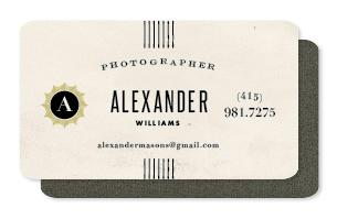 chardonnay Business Cards