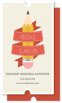 Illustrated Ribbon Business Cards