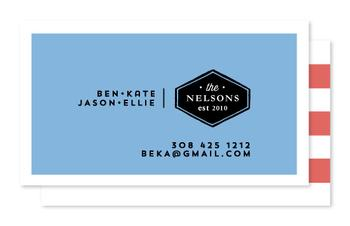Modern Family Business Cards