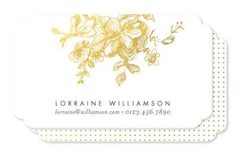 Gold Sketched Business Cards