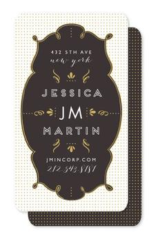 Formal Gold Business Cards