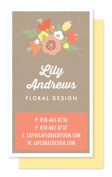 Natural Bouquet Business Cards