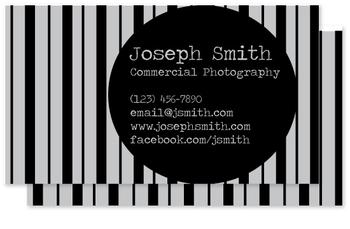 Pinstripe Suit Business Cards