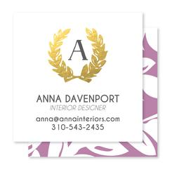 Leaves of Class Business Cards
