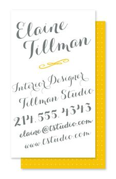 Exclusively Scripted Business Cards