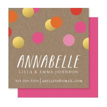 Confetti Makes Me Smile Business Cards