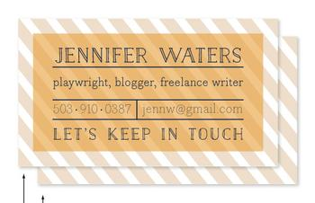 Cheerful Stripes Business Cards