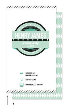Modern Masculine Business Cards