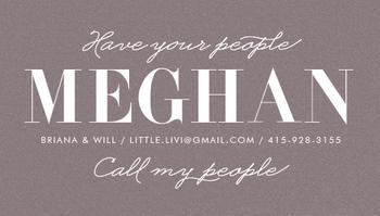Call My People Mom / Dad Calling Card Business Cards
