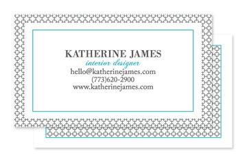 Modern Circle Square Business Cards