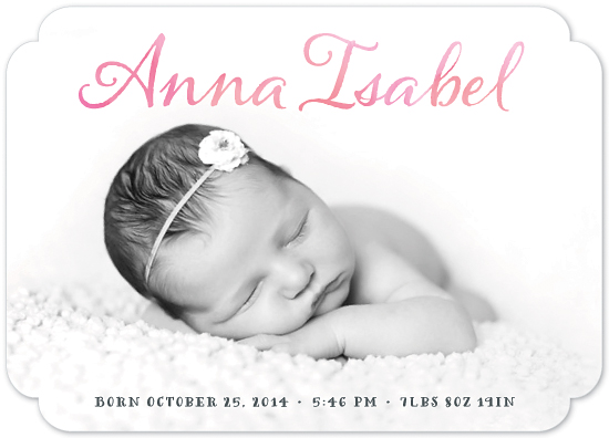birth announcements - Think Pink