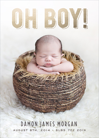birth announcements - Oh Boy!