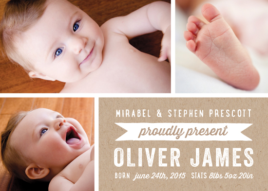birth announcements - Proudly Presents