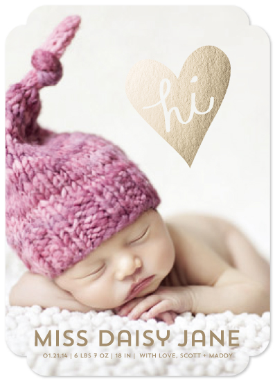 birth announcements - hi, love by guess what?